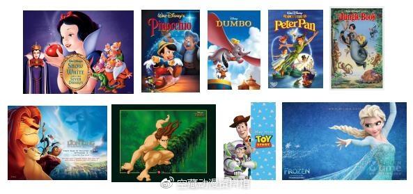 迪士尼及皮克斯出品的动画电影