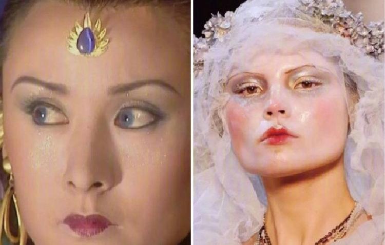 范冰冰的唇妆居然是当年《西游记》玩剩下的